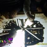 تکنیک های نقاشی با ماسه روی میز نوری