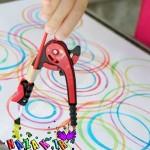 معرفی پرگار با نقاشی به کودکان