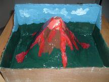 ساخت کوه آتشفشانی