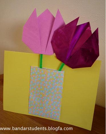Подарок маме на 8 марта своими руками из бумаги тюльпан